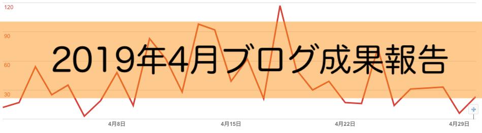 2019年4月ブログ成果報告 PV数激増